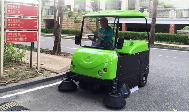 北京金恺电动扫地车服务于首都环保