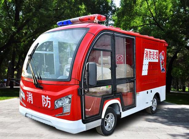 烈火英雄:小型电动消防车,危难时刻显身手!