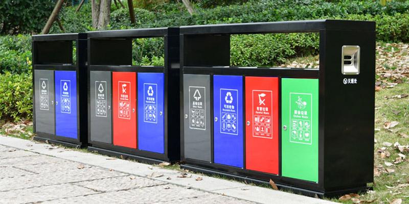 北京公园户外分类垃圾桶 室外环卫果皮箱 JK-LJT-04